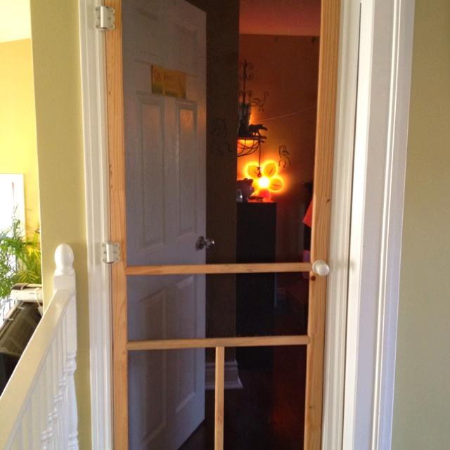 screen door to keep cats out of bedroom 2