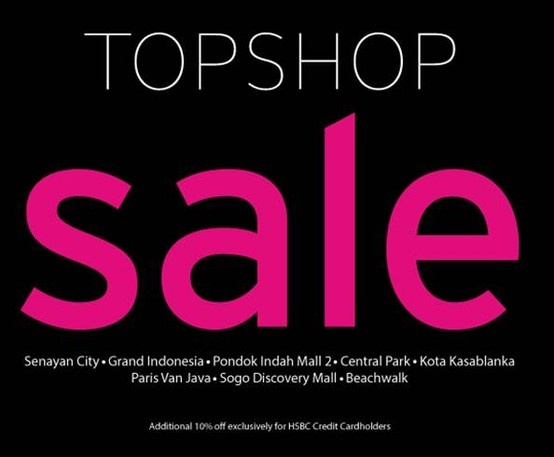 its the end of season sale at Topshop!