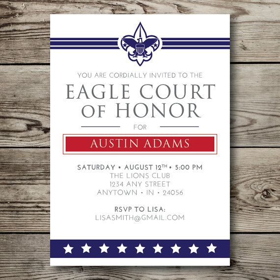 printable EAGLE COURT of HONOR boy scouts by vallarinacreative