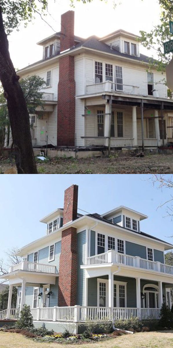 The before and after of a home remodel from the 2 #Baylor alums featured on HGTV's newest show, #FixerUpper. (click for details)