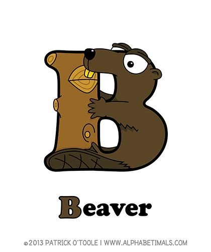 Beaver - Alphabetimals make learning the ABC's easier and more fun! http://www.alphabetimals.com