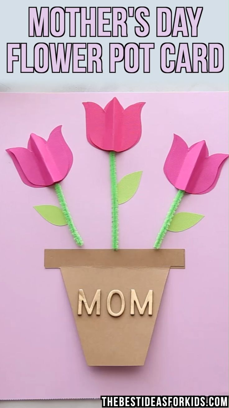 Mother's Day Tulip Card 🌷🌷🌷