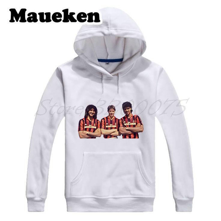 Men Hoodies Ac Milan Legend Marco Van Basten Ruud Gullit Frank Rijkaard Netherlands Musketeers Sweatshirts Thick W17100919