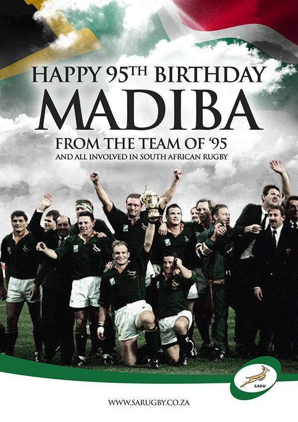 Not really media, but hell, a birthday wish from the '95 Bok team is a goodie.