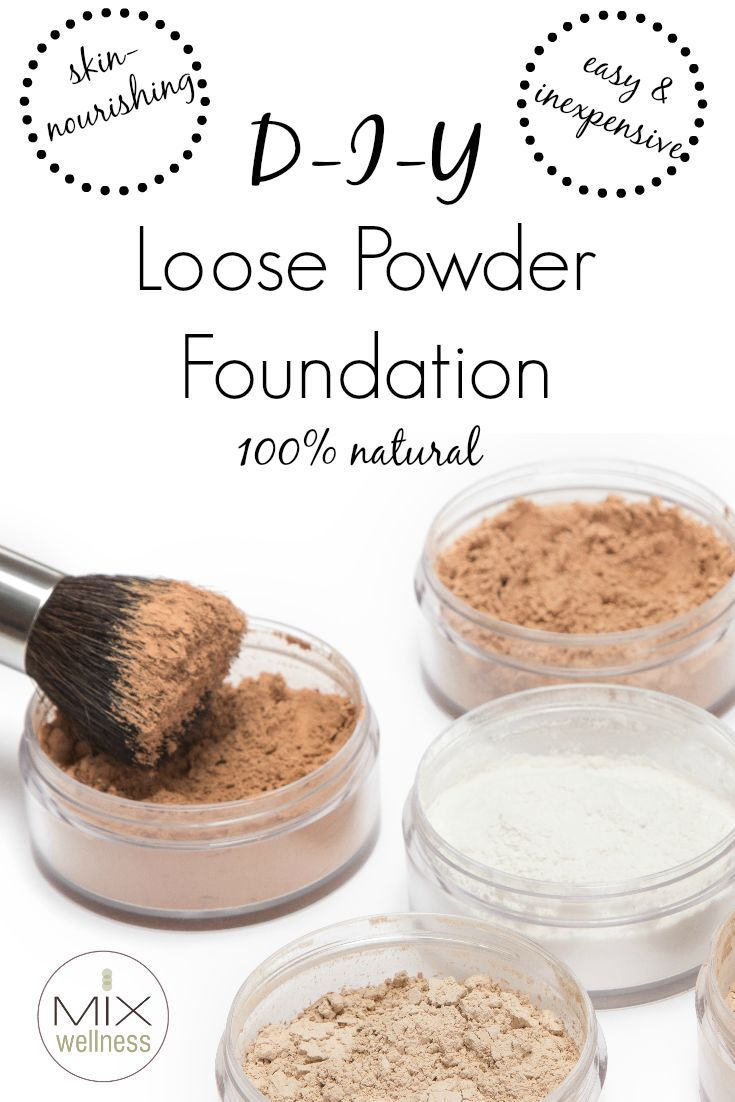 Learn how to make #healthy & inexpensive #DIY loose powder foundation
