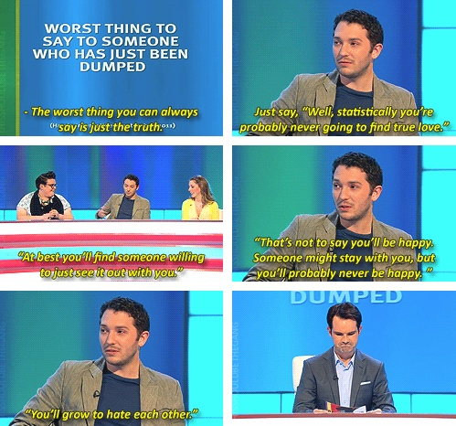 Jon Richardson, ladies and gentlemen. The eternal optimist.