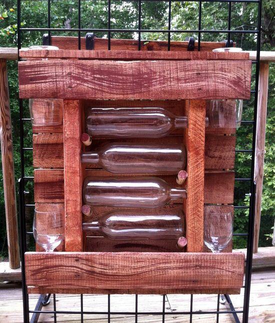 20 Bastidores de vino impresionantes hechos de Descartados Paletas de madera | RenewPurpose