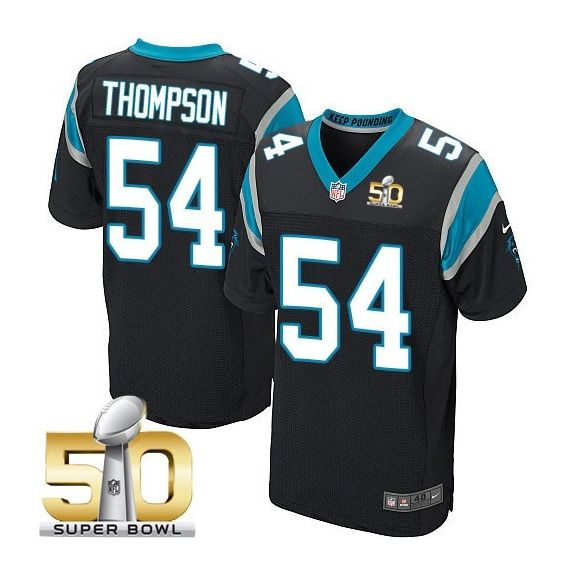 7b9647002 ... nfl jersey nike Carolina Panthers 54 Shaq Thompson Black 2016 Super  Bowl 50 Elite Jersey ...
