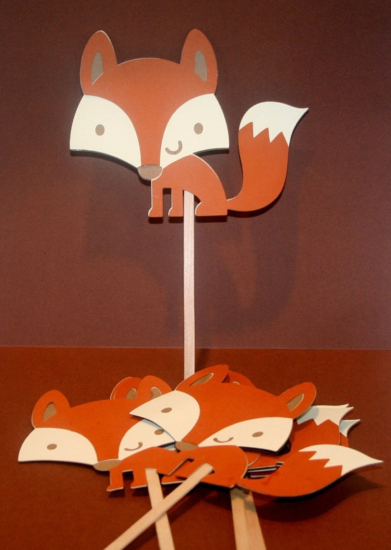 Woodland Fox Party Favors Table Decoration For Birthday