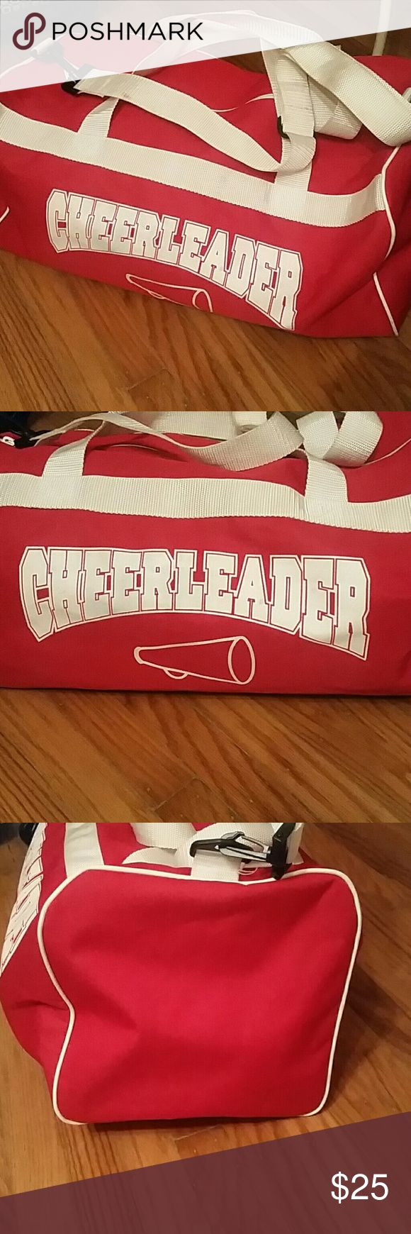 Cheerleader Duffle Bag Cheerleader Duffle Bag 20.5 x 10.5  Brand new condition except for slight spots on shoulder strap. Bags