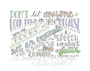 1 Timothy 412 Coloring Page