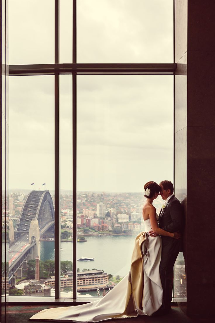 One From March 2014: Monique and Shane at Shangri-La Hotel, Sydney   Milton Gan Photography.  Tip: Always have a Plan B - wet weather contingency.
