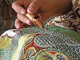 5 colour-batik means 5 repetitive tasks. 5 times of waxing, dyeing, dewaxing, drying. Check out more on how to make batik here http://www.batikbatik.com.au/the-art-of-batik/