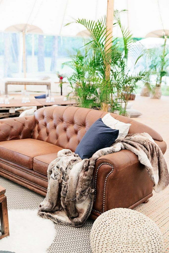 Leather Chesterfield Lounges - Lovebird Weddings, Noosa Australia