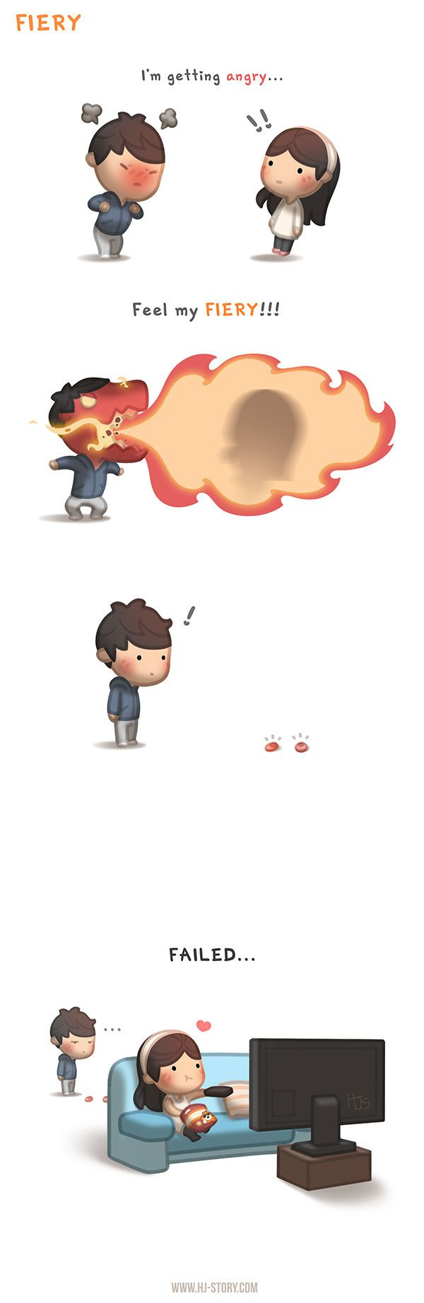 "Check out the comic ""HJ-Story :: Fiery"" http://tapastic.com/episode/71354"