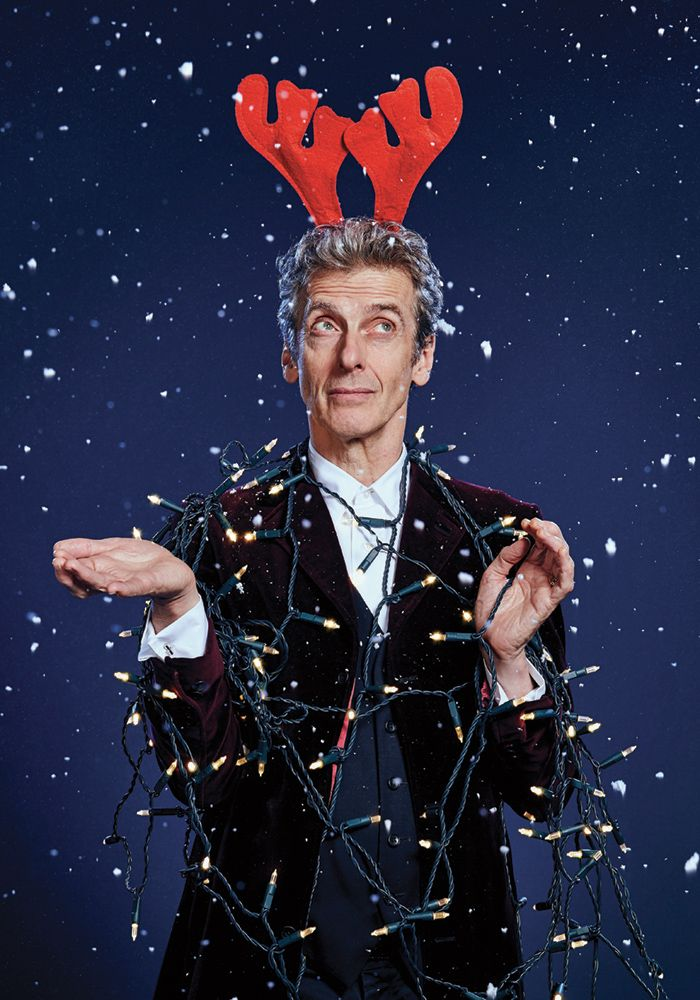 stuart-manning: Merry Christmas! Here's a festive outtake from the Peter Capaldi #DoctorWho shoot I art directed for Radio Times. Photograph by Richard Grassie.