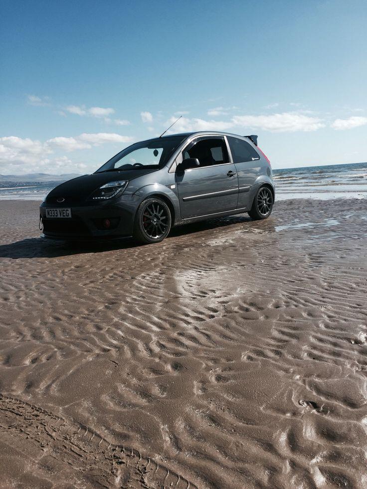 Beach picture #cargirl #modified #love #cars #ford #fiesta #milltek #exhaustsystem #K&N #1.6 #carbonbonnet #devileyeheadlghts #frontsplitter #rsspoiler #diffuser #subwoofer