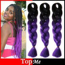 ombre expression afro kanekalon cornrow women braiding