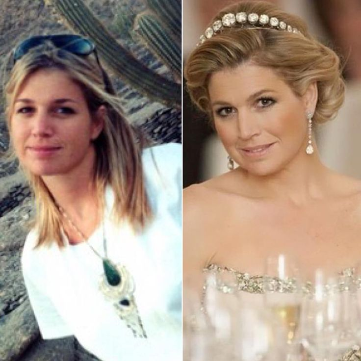everythingroyaltyQueen Maxima of The Netherlands before she got married to King Willem-Alexander (left) and after (right)