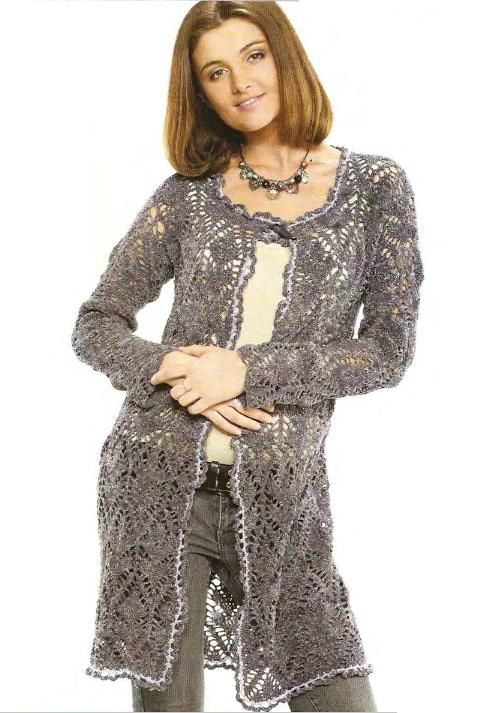 Grey Cardigan free crochet pattern: Jacket, Sweater Crochet Free Pattern, Crochet Pattern Cardigan, Abiti Crochet, Crochet Patterns, 2Dayslook Cardigan, Cardigan 2Dayslook, Crochet Cardigans
