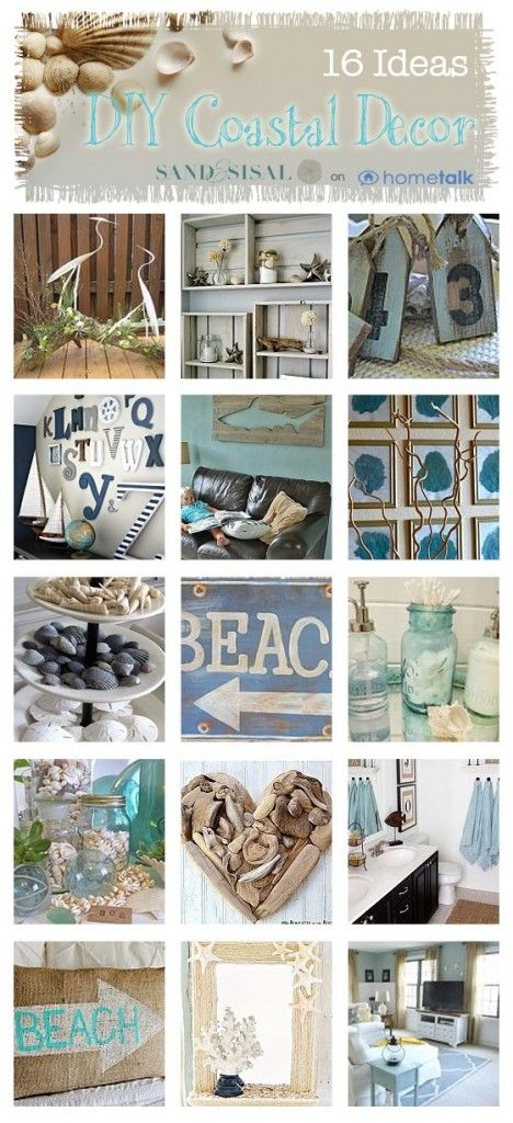 16 budget diy coastal decor projects - Beach Decor Ideas