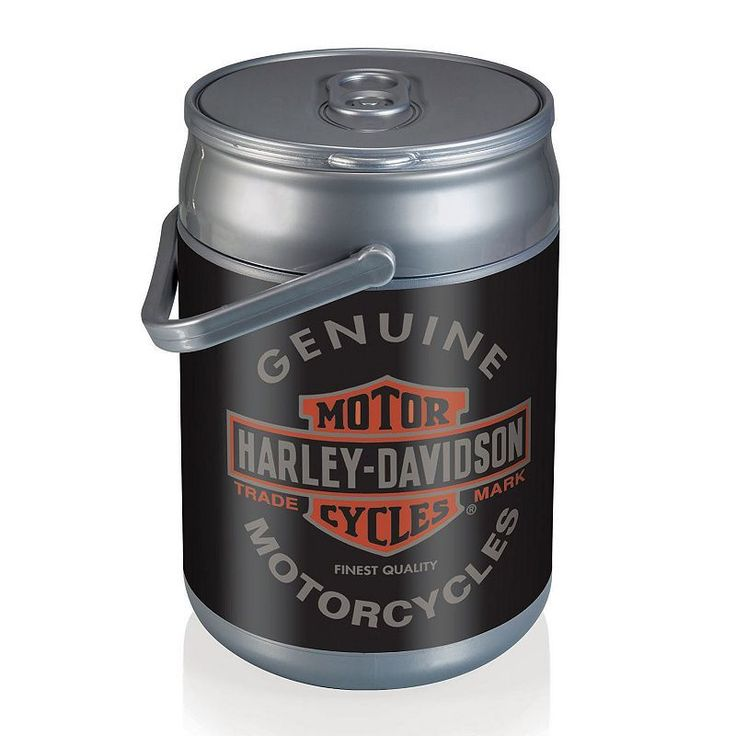 Picnic Time Harley-Davidson Oil Can Insulated Cooler, Grey