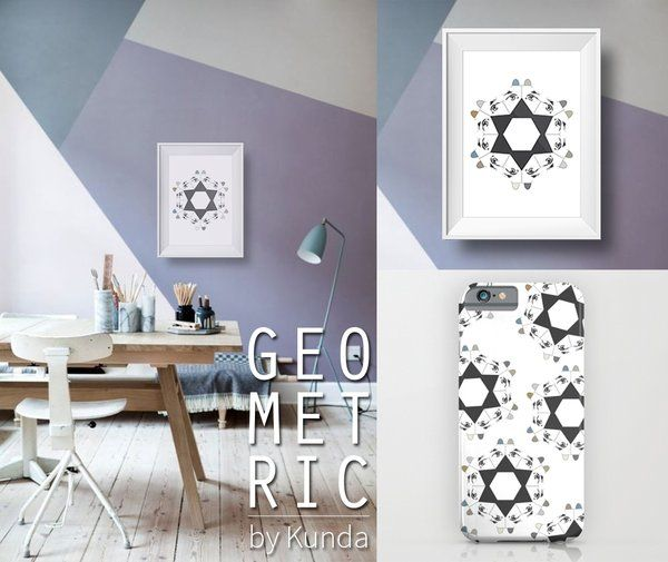 Geometric Dogs art print - iphone cases - ipod skins _Kunda | society6 (room found here: http://www.brit.co/diy-wall-murals/)  #society6 #artprints #graphicdesign #iphonecases #dogs #design #housewarming #stars #geometric #geometry #illustration
