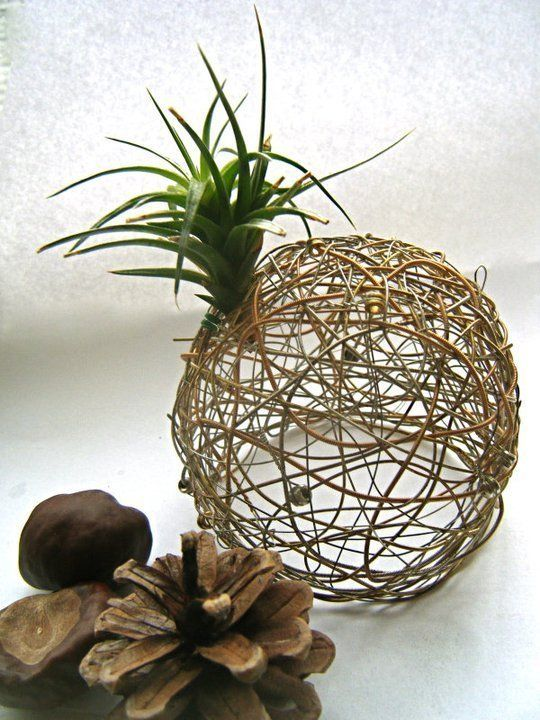 Floral Centerpieces from Used Guitar Strings