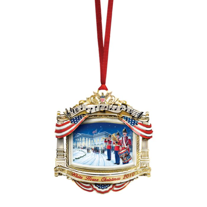 Awesome United States Christmas Ornaments Part - 13: 2010 White House Christmas Ornament, The U.S. Marine Band | The White House  Historical Association