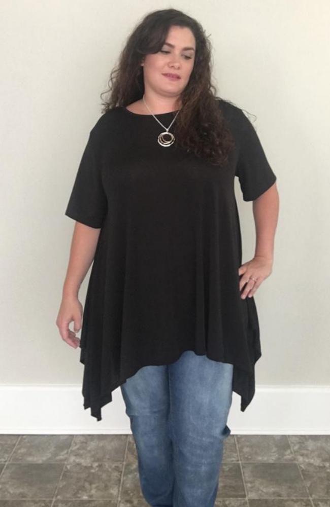 2efc6d3091 Asymmetrical Tunic   Black - Trendy Plus Size Women's Boutique Clothing