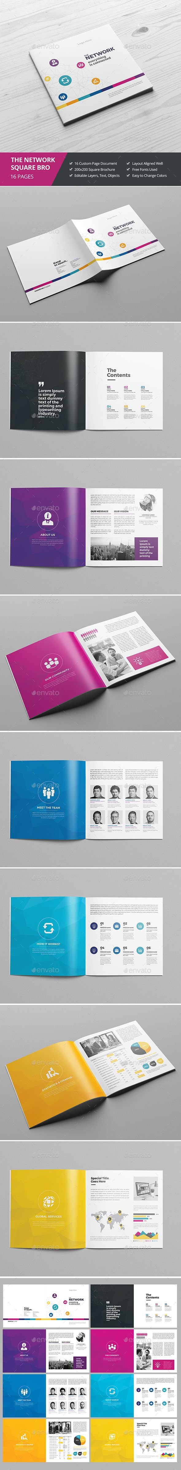 Haweya Colorful Square Brochure  - InDesign Template • Only available here ➝ http://graphicriver.net/item/haweya-colorful-square-brochure-/16833245?ref=pxcr