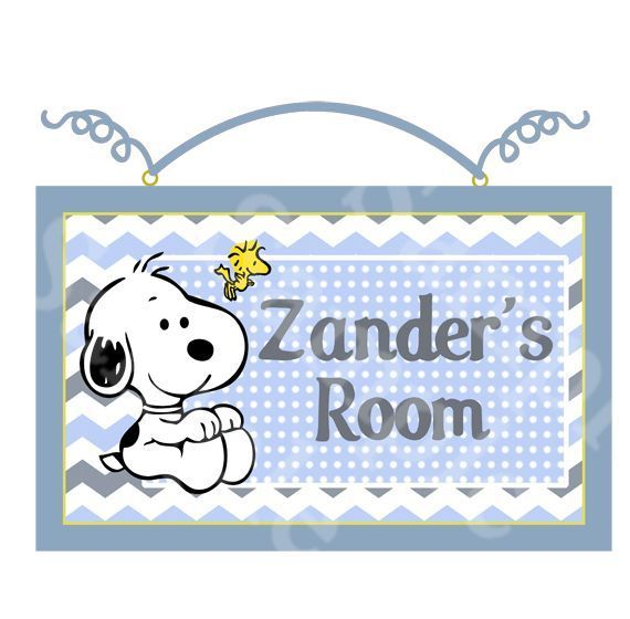 """Personalized """"My Little Snoopy/Baby Snoopy/Chevron""""  Wood Sign Wall Decor #PersonalizedWallDecor"""