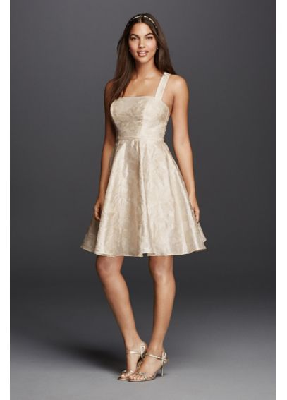 Short Dress with Criss Cross Back Straps SDWG0396