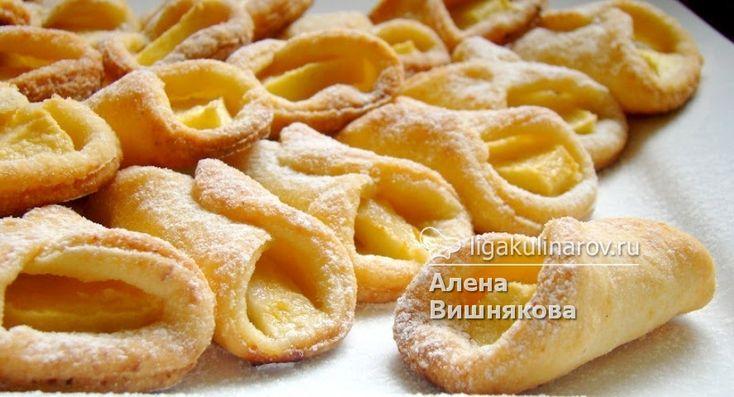 Главное фото рецепта: Творожные рогалики с яблоками