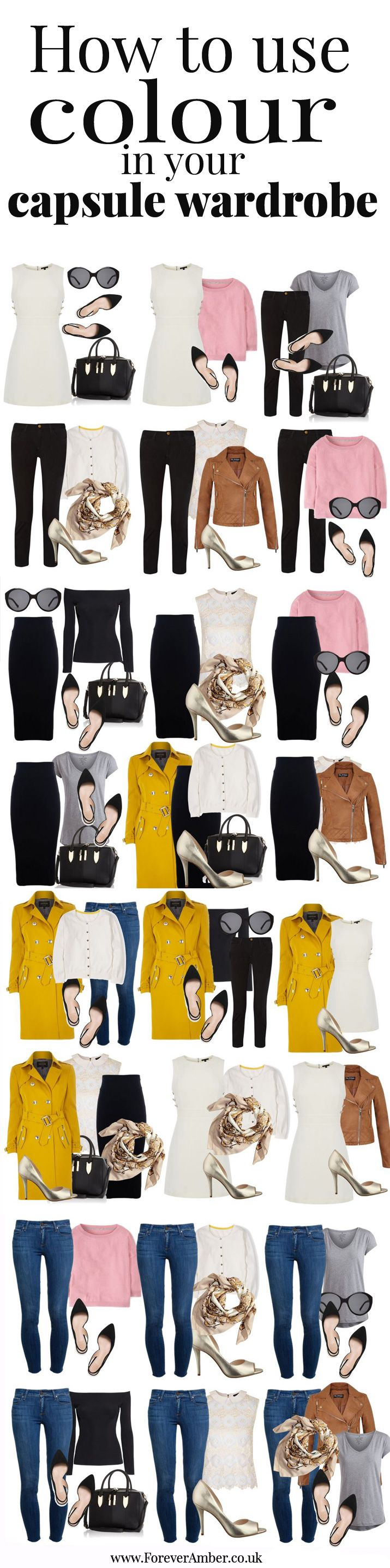 how to use colour in your capsule wardrobe