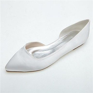 Women's Shoes Pointed Toe Flat Heel Satin Flats Wedding Shoes More Colors available – AUD $ 36.10