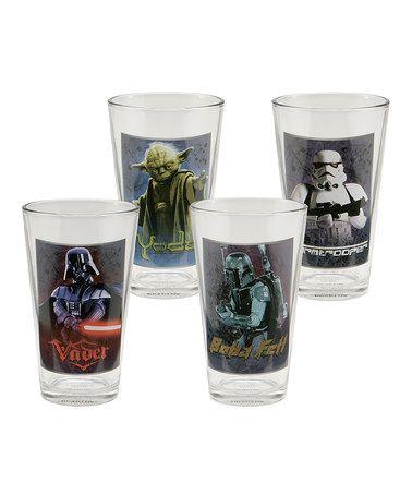 Loving this Star Wars 16-Oz. Glass Set on #zulily! #zulilyfinds