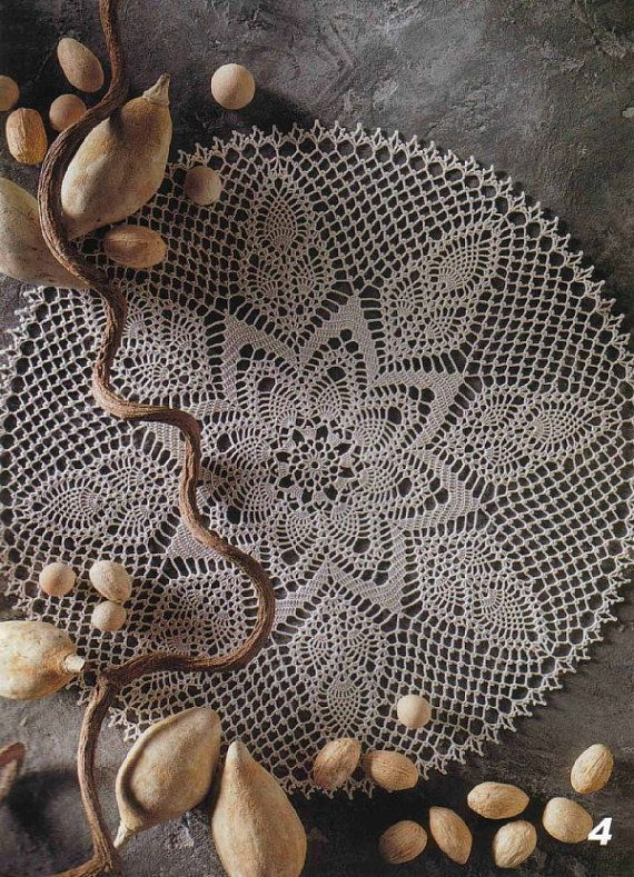 Crochet Doily Round Ecru Crocheted Doily Como by CrochetMiracles, $45.00