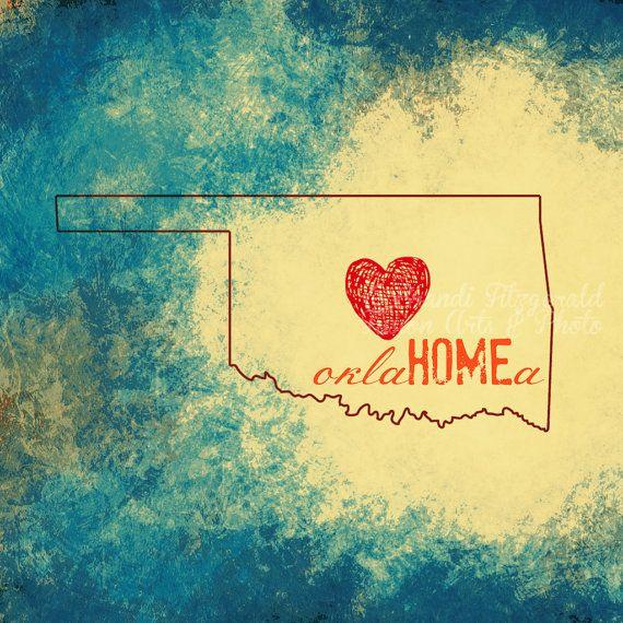 "Pray for Oklahoma 10 x 10"" Tornado Relief Efforts Moore Oklahoma Typography & Fine Art Prints"