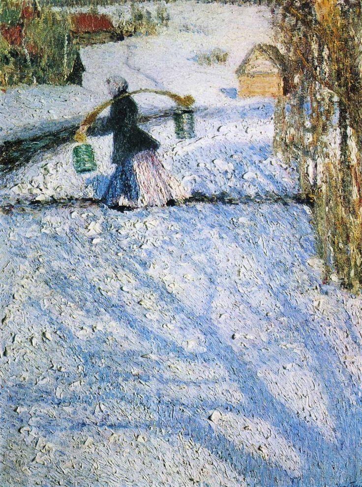 Игорь Эммануилович Грабарь (1871-1960) - Мартовский снег, 1904