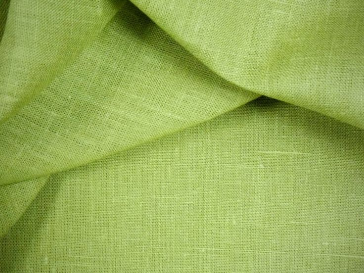 Лён, цвет салатовый, ширина 150 см