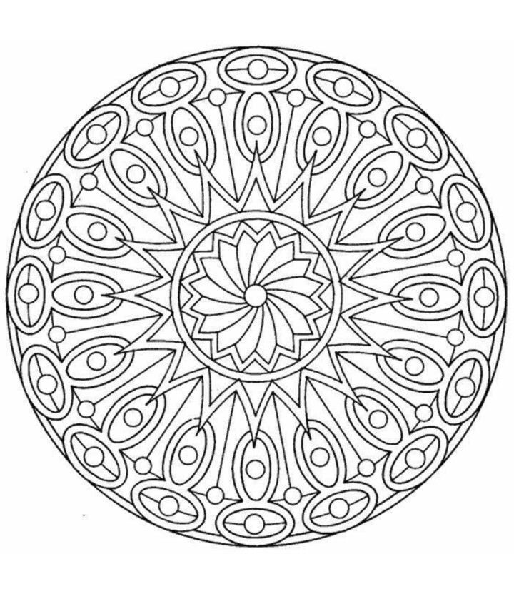art therapy coloring pages mandalacoloring - Art Therapy Coloring Pages Mandala