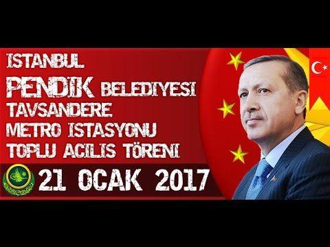 Cumhurbaşkanı Recep Tayyip Erdoğan Pendik Bel.Tavşandere Metro İst.Toplu...