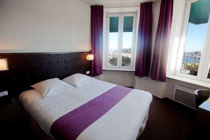 Chambres confort port de plaisance à Cherbourg dans l'hôtel Ambassadeur