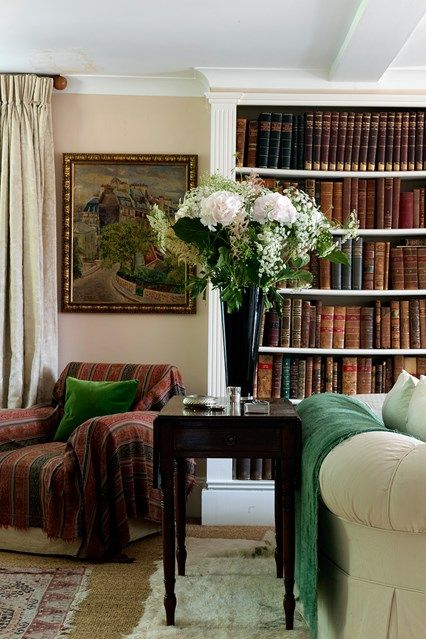 Traditional Bookshelf - Quirky charm with bold colours and a fresh layout in this Wiltshire farmhouse - bookshelves on HOUSE by House & Garden