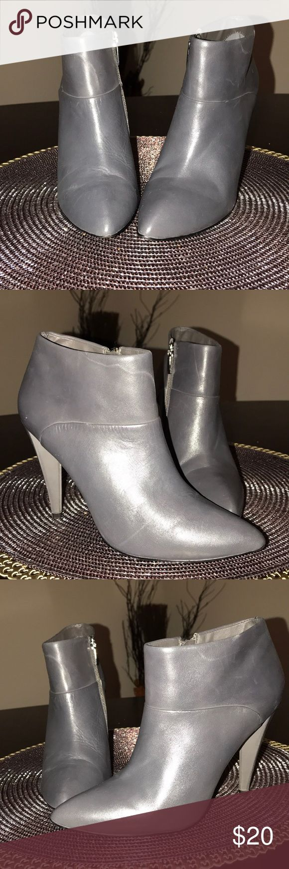 Colin Stuart Grey Bootie Colin Stuart Grey Heeled Bootie, Size 6.5, Good Condition Colin Stuart Shoes Heeled Boots