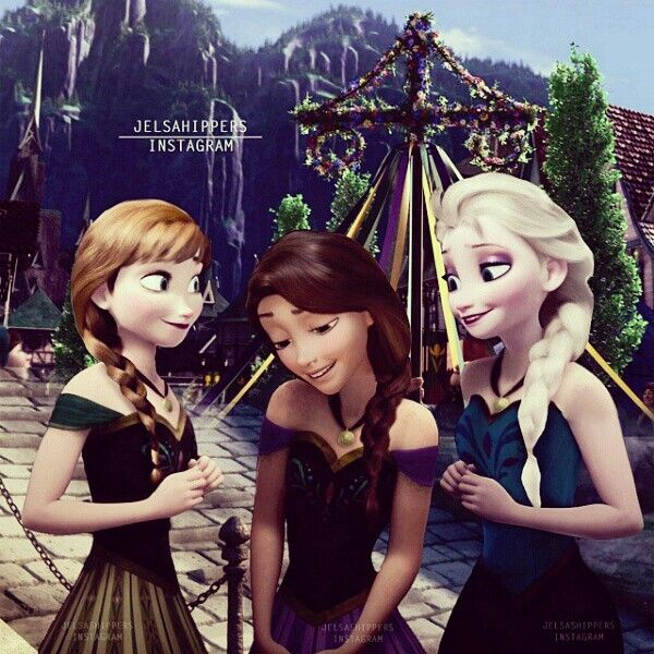 The three cousins in Arendelle garb