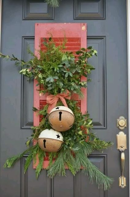confessions of a craigslist junkie: Repurposing Shutters Not diggin the giant bells but something cool about the shutter