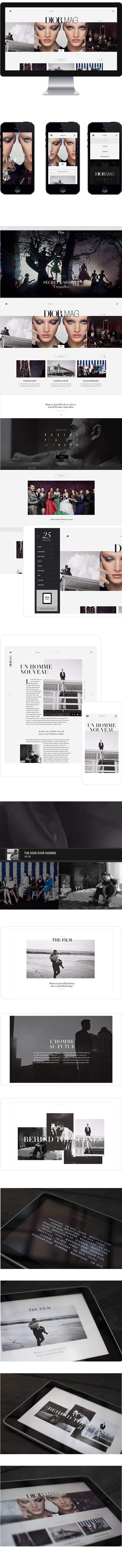Dior Mag by Jonathan Da Costa, via Behance