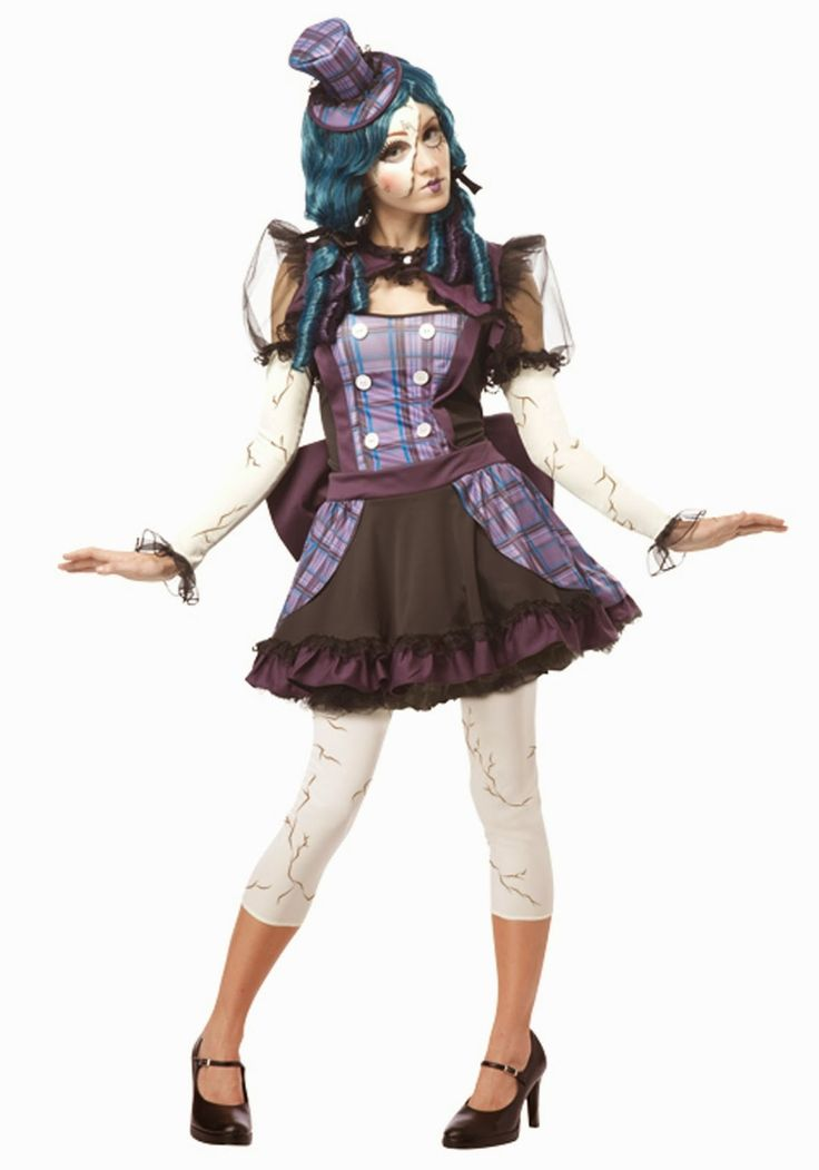 so if youre not careful she might get cracked inform those around you to handle you with care when dress in this adult broken doll costume - Best Halloween Costumes Female